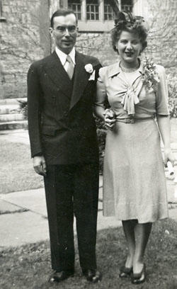 Kenneth & Martha Kidd Wedding photograph, 9 October 1943, Toronto